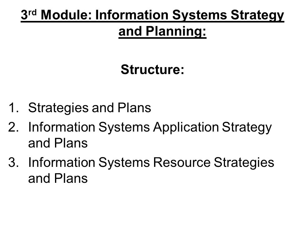 What does strategies and plans mean in this context.