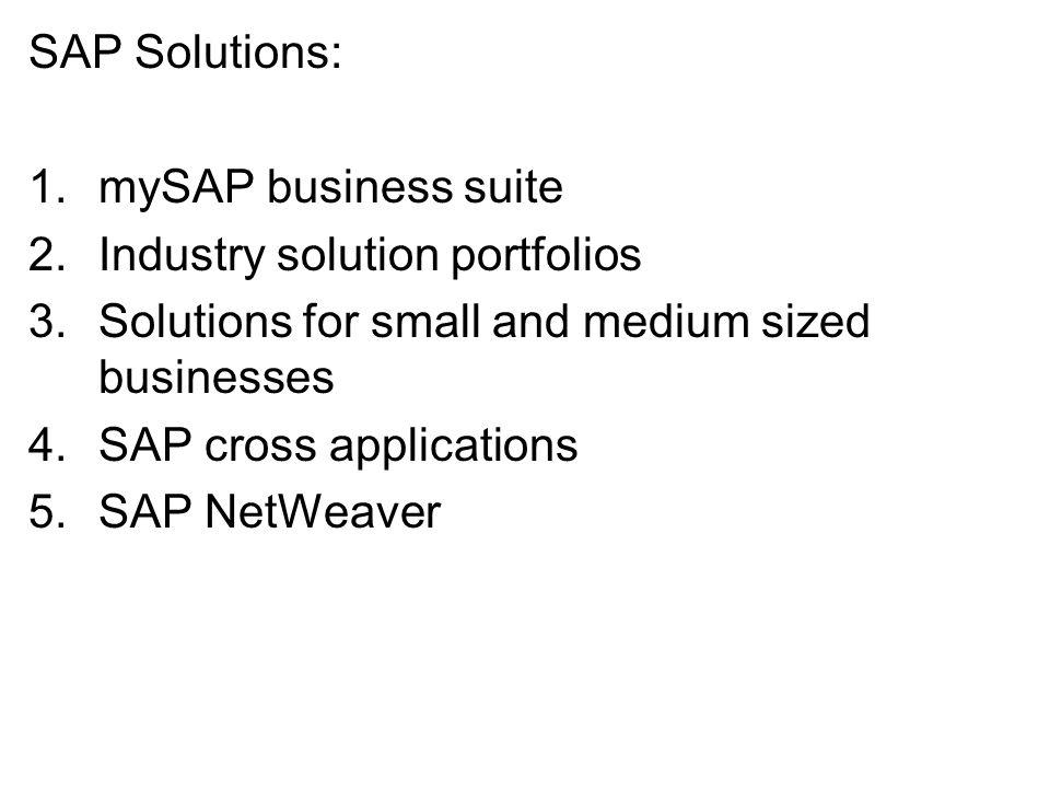 Mysap Business Suite Mysap Business Suite 2 Industry Solution Portfolios 3 Solutions