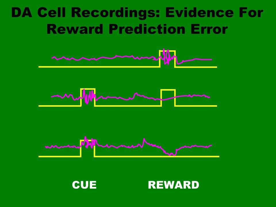 DA Cell Recordings: Evidence For Reward Prediction Error CUEREWARD