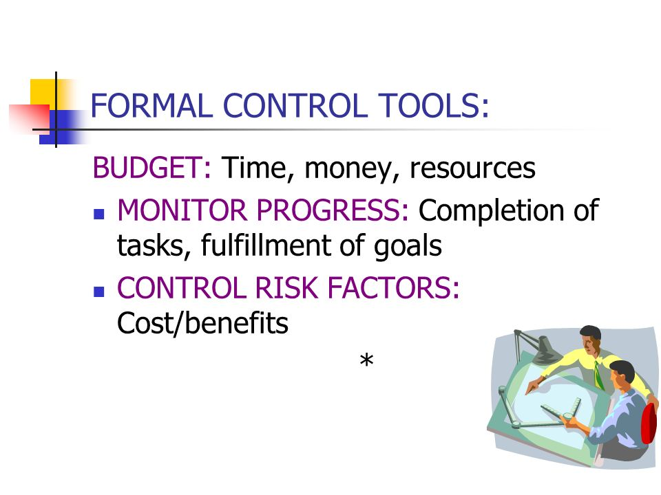 FORMAL PLANNING TOOLS EXAMPLES: PROGRAM EVALUATION & REVIEW TECHNIQUE: Diagram of project activities, sequential and concurrent, shows interactions of
