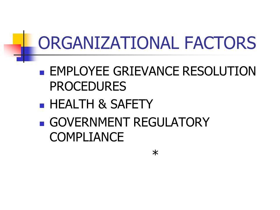 ORGANIZATIONAL FACTORS JOB DESIGN STANDARDS & PERFORMANCE MONITORING ERGONOMICS: Interaction of people & machines; jobs, health, interface *