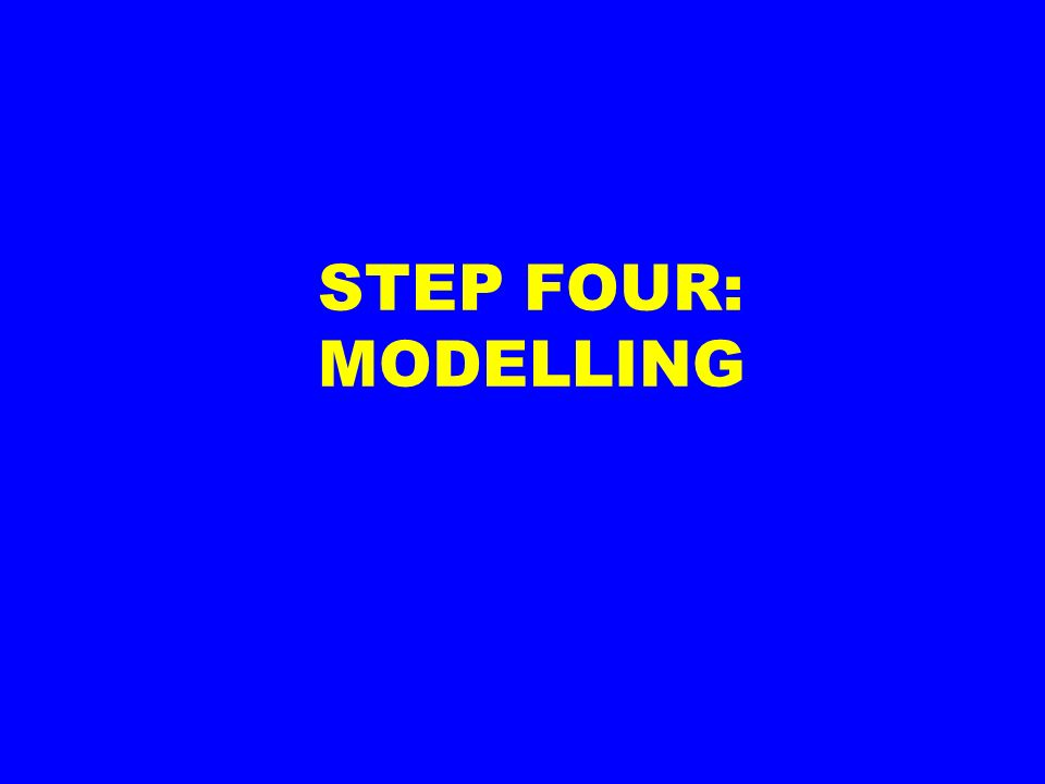 STEP FOUR: MODELLING