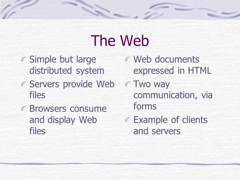 The World Wide Web Browsers Web server