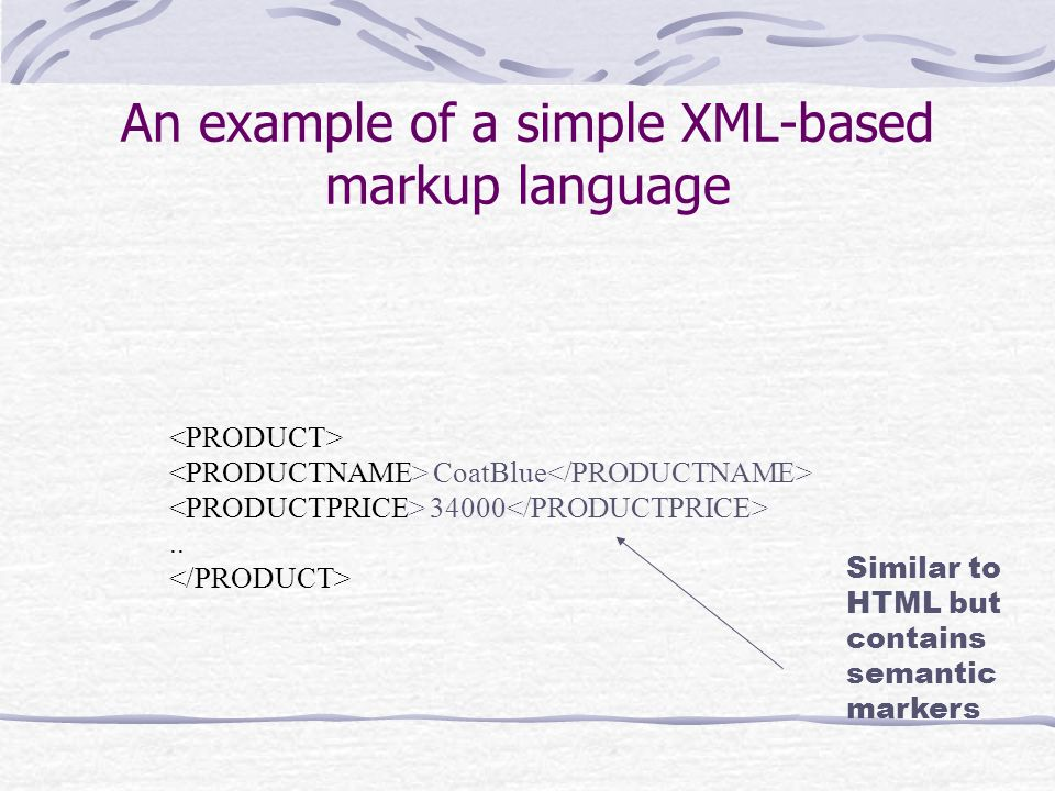 XML as a central repository of data Document in XML Spreadsheet Web pages Word processed document Relational database