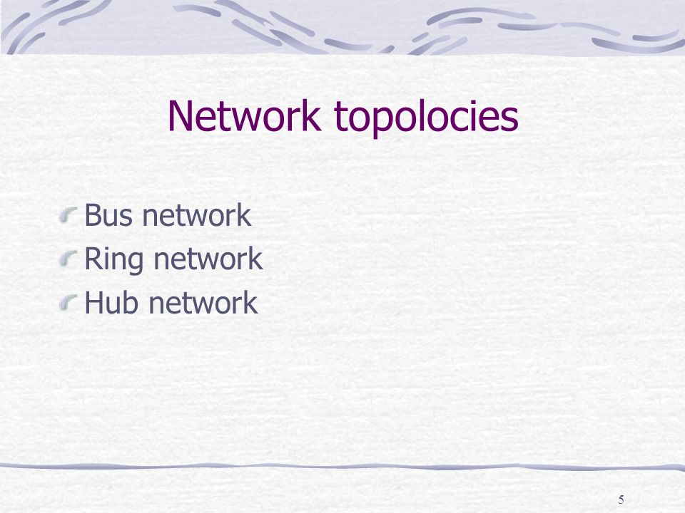 6 Bus network Terminator Devices: computers, printers etc