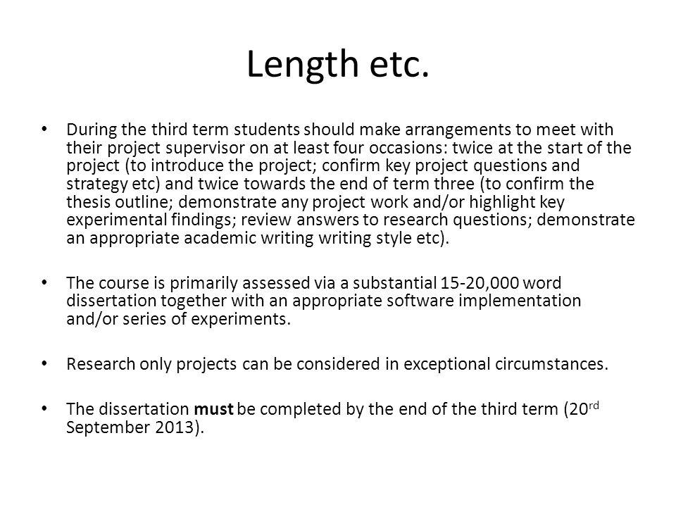 Length etc.