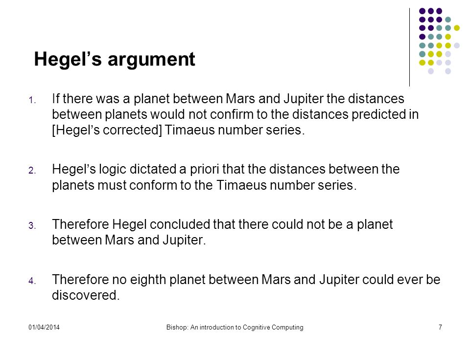 Hegels argument 1.