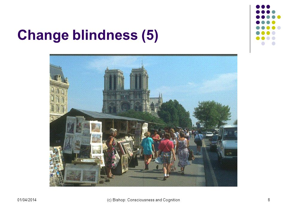 01/04/2014(c) Bishop: Consciousness and Cognition8 Change blindness (5)