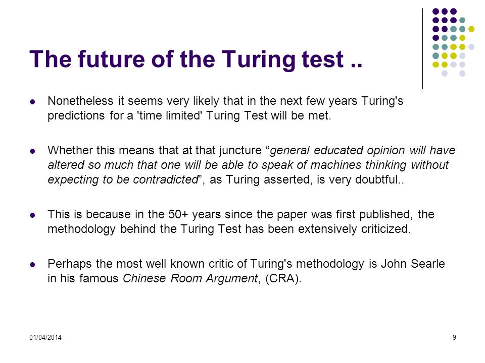 The future of the Turing test..