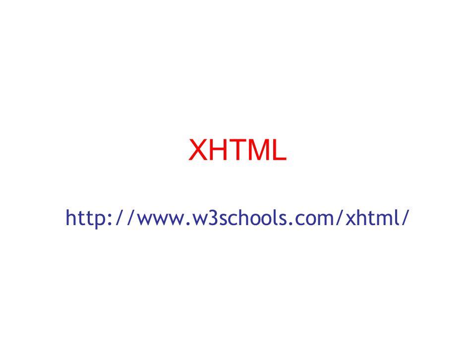 XHTML http://www.w3schools.com/xhtml/