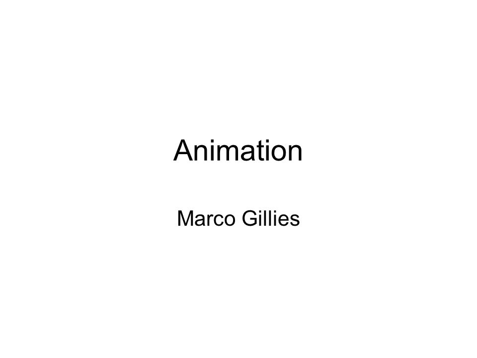 Animation Marco Gillies