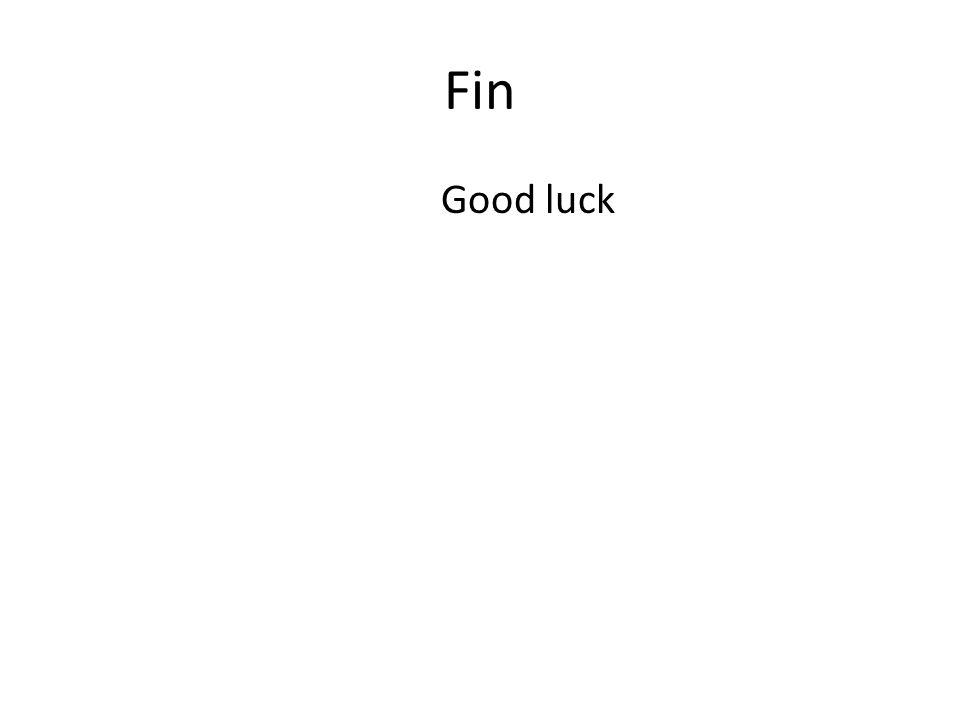 Fin Good luck