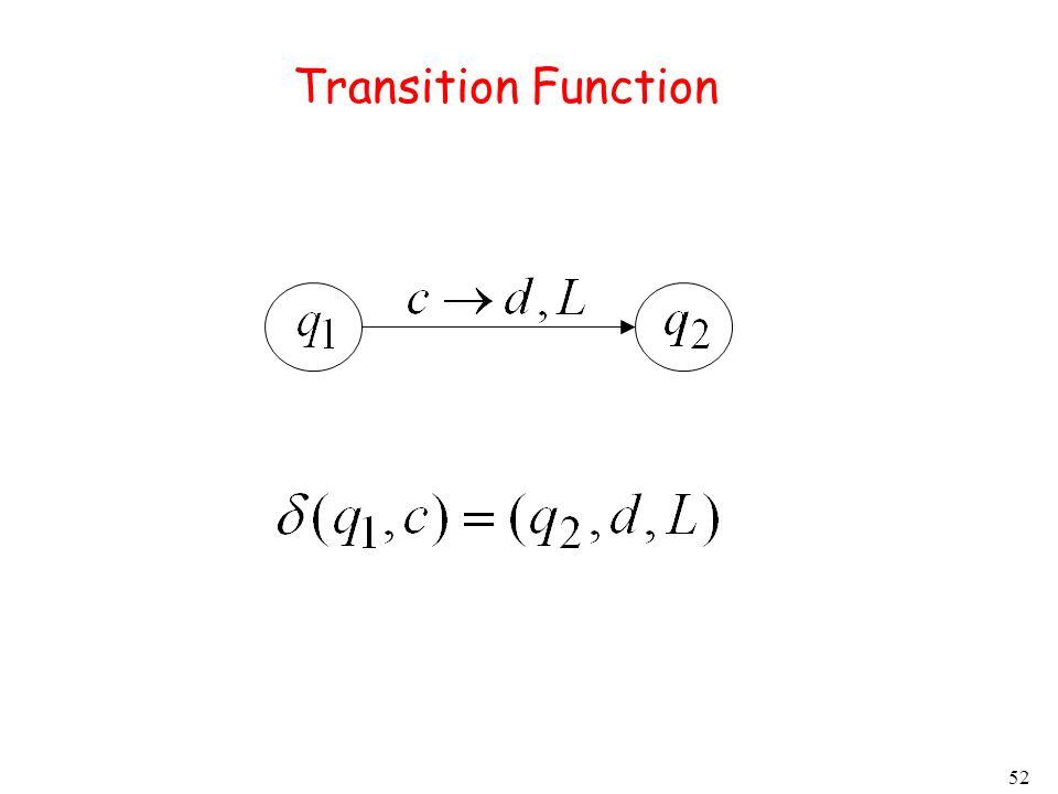 52 Transition Function