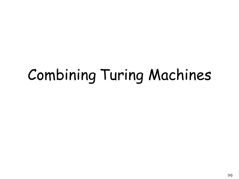 96 Combining Turing Machines