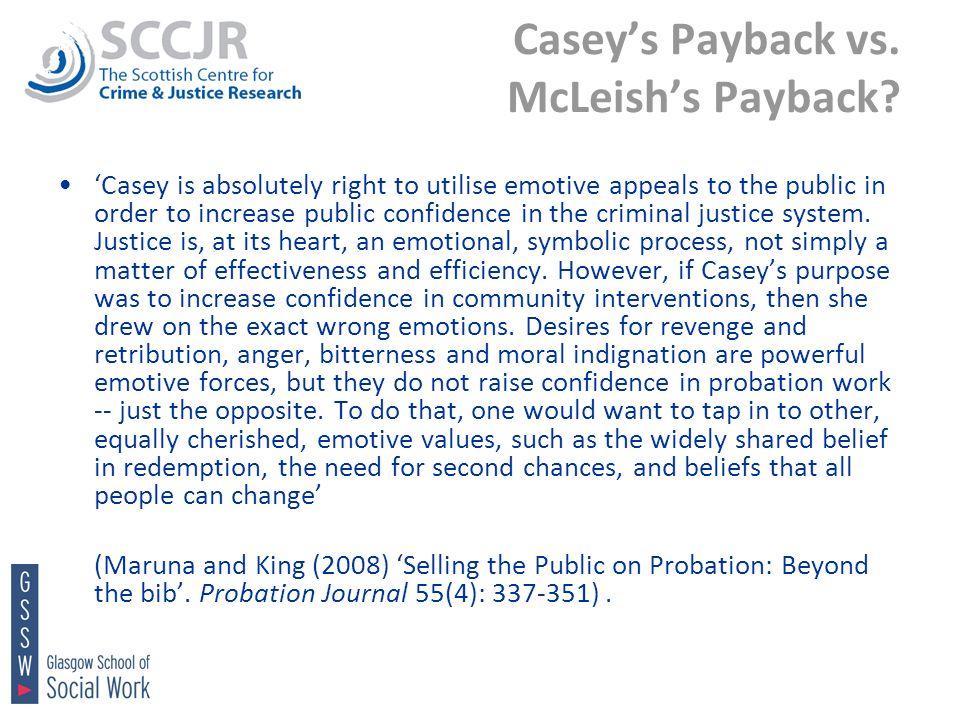 Caseys Payback vs. McLeishs Payback.