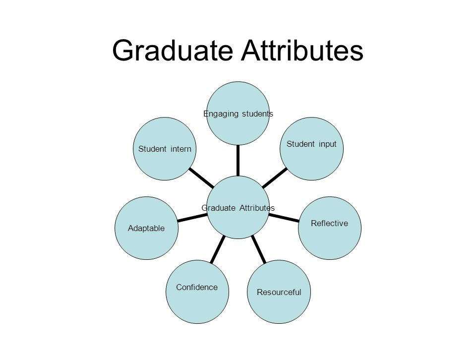 Graduate Attributes Engaging students Student input Reflective Resourceful Confidence Adaptable Student intern