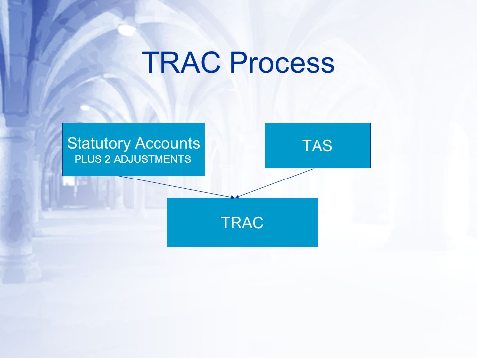 Statutory Accounts PLUS 2 ADJUSTMENTS TAS TRAC