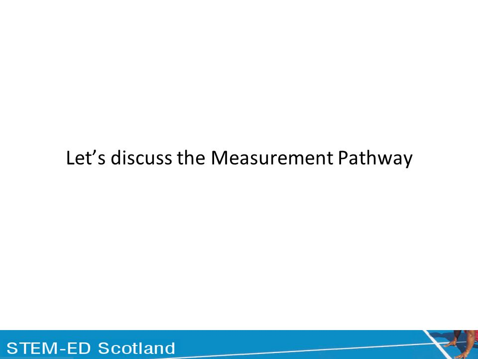 Lets discuss the Measurement Pathway