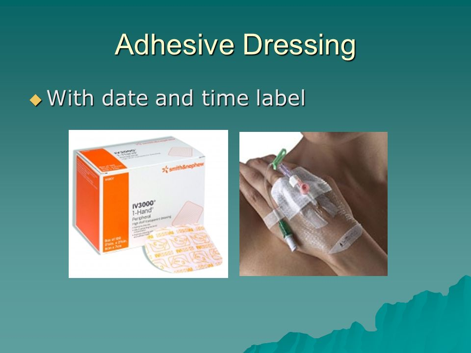 Adhesive Dressing With date and time label With date and time label