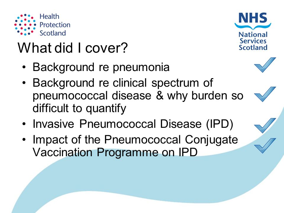 What did I cover? Background re pneumonia Background re clinical spectrum of pneumococcal disease & why burden so difficult to quantify Invasive Pneum