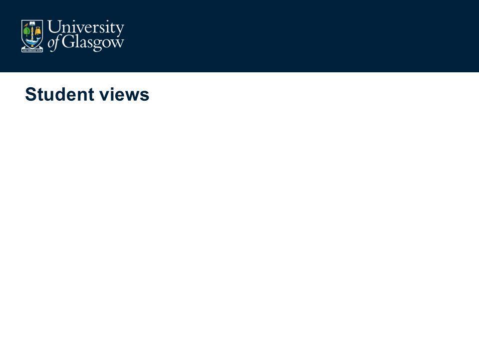 Student views