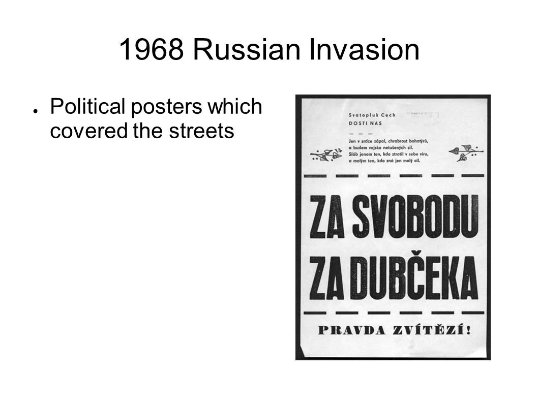 1968 Russian Invasion Political posters which covered the streets