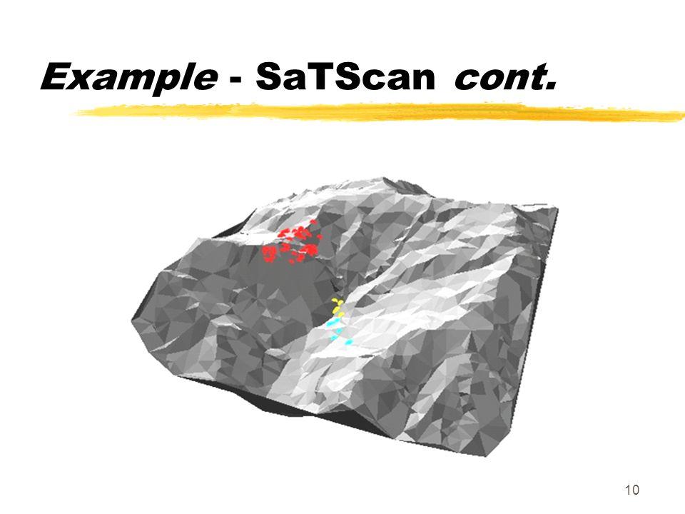 10 Example - SaTScan cont.