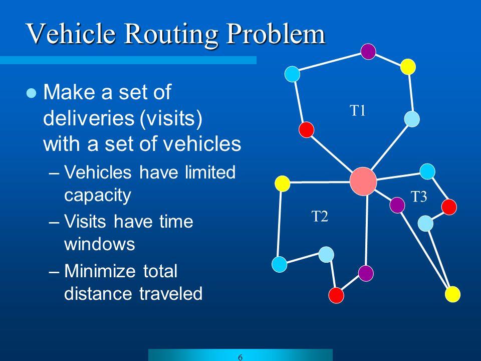 7 R1 R0 R1 R0R2 R0 R1R2 R1 R2 R0 R2 R1 R0 R1 R2 makespan Job Shop Scheduling Problem (JSP)