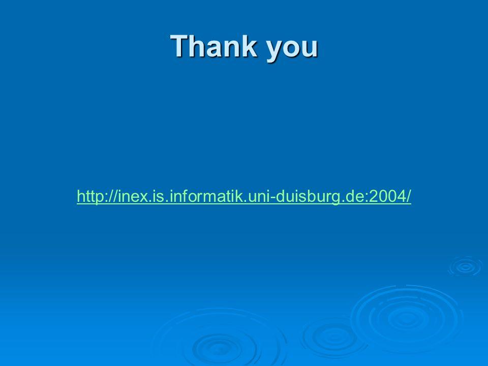 Thank you http://inex.is.informatik.uni-duisburg.de:2004/