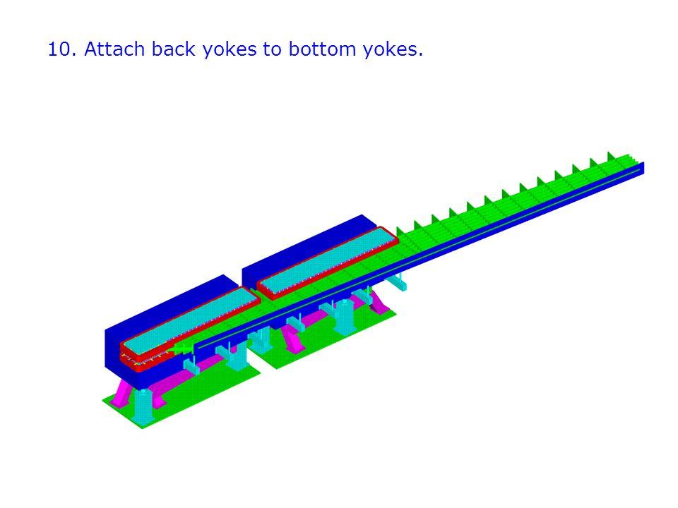 10. Attach back yokes to bottom yokes.