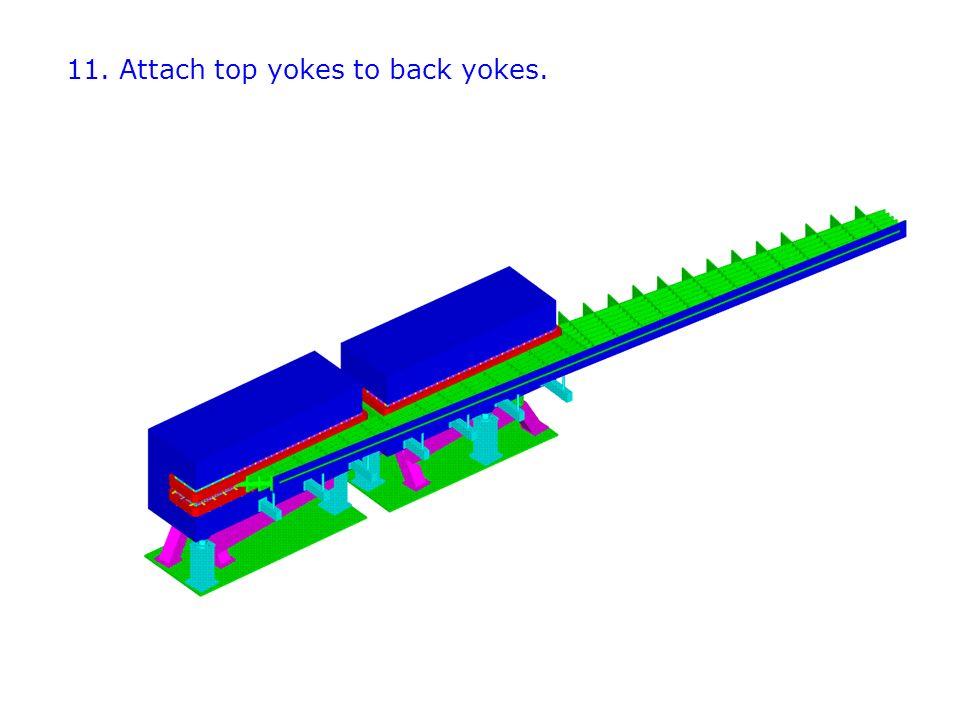 11. Attach top yokes to back yokes.