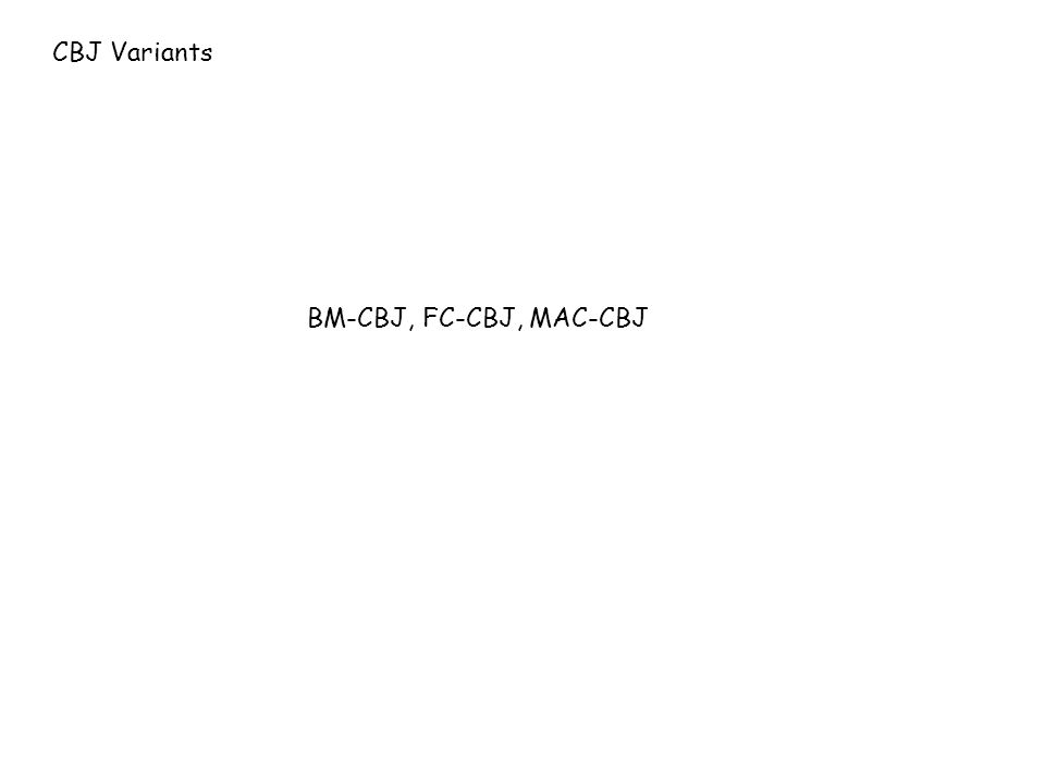 CBJ Variants BM-CBJ, FC-CBJ, MAC-CBJ
