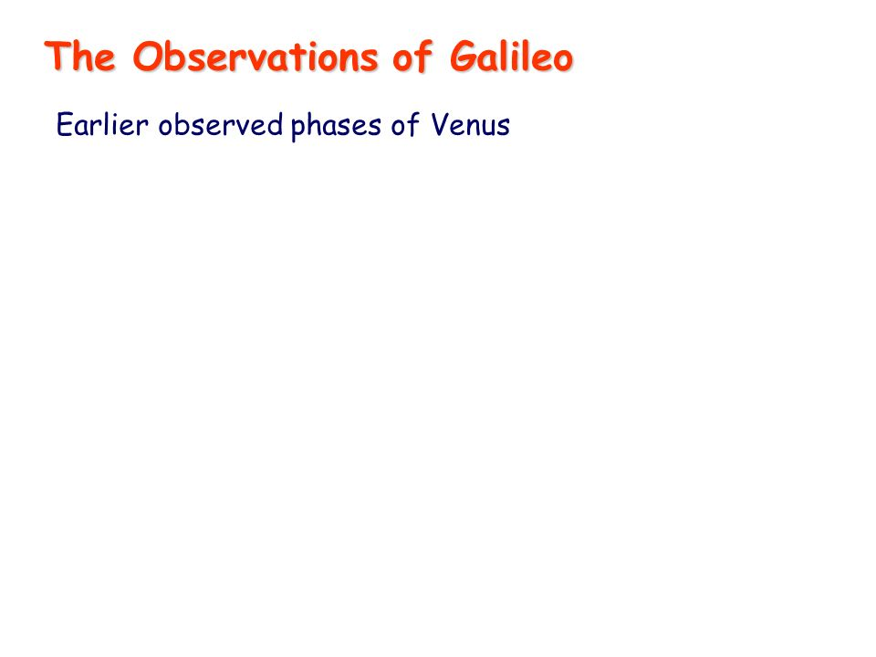 Earlier observed phases of Venus