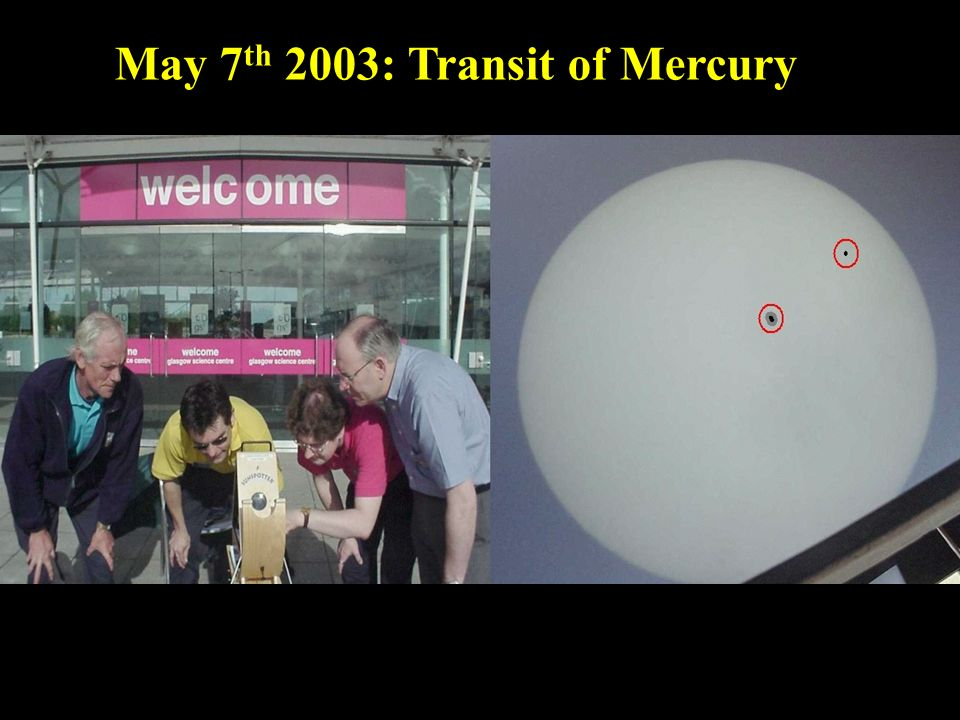 May 7 th 2003: Transit of Mercury