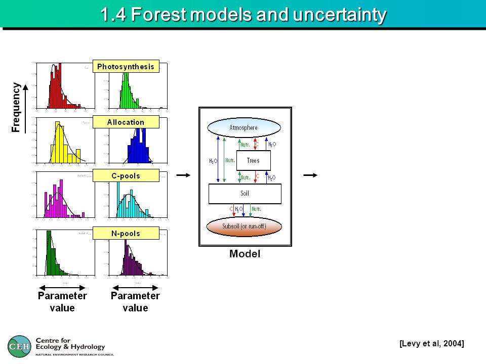1.4 Forest models and uncertainty Model [Levy et al, 2004]