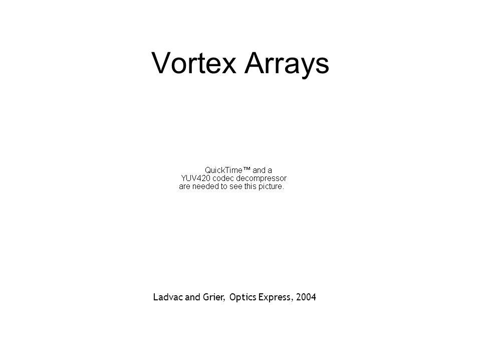 Vortex Arrays Ladvac and Grier, Optics Express, 2004