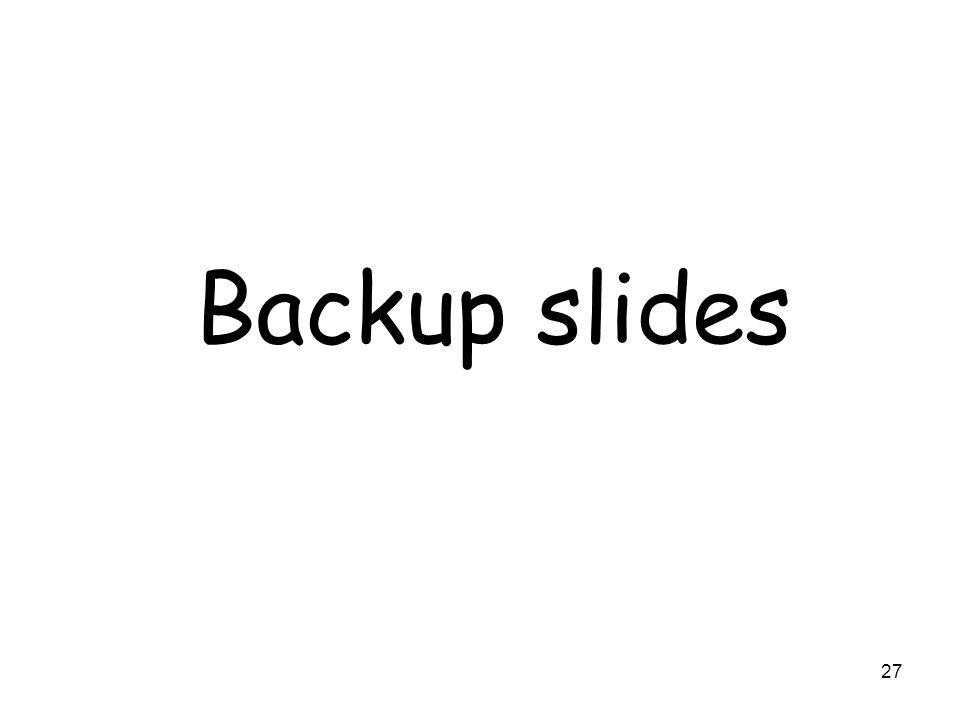 27 Backup slides
