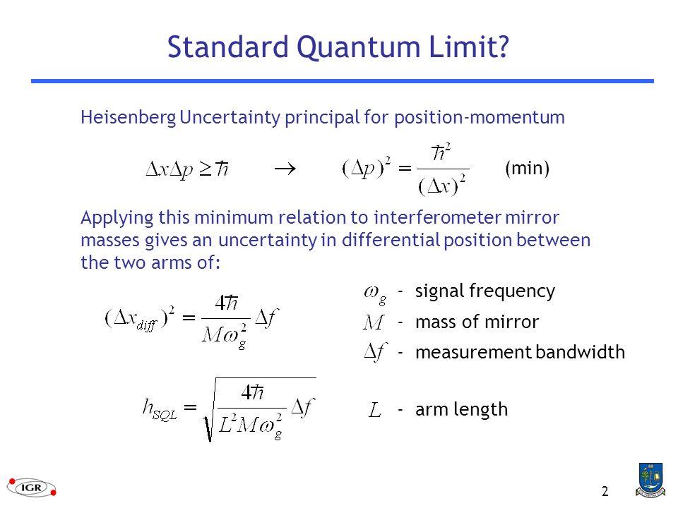 2 Standard Quantum Limit.