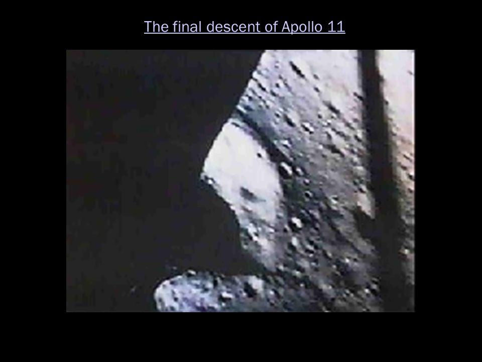 The final descent of Apollo 11
