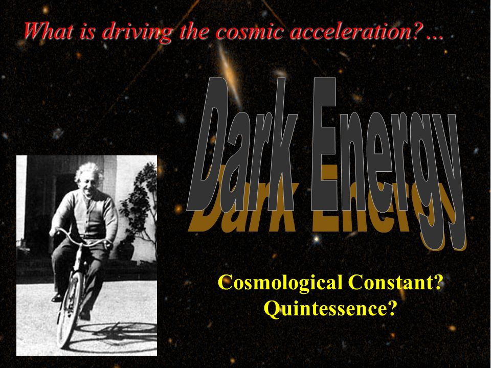 Cosmological Constant Quintessence What is driving the cosmic acceleration …