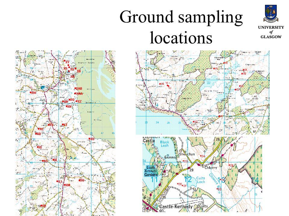 Ground sampling locations