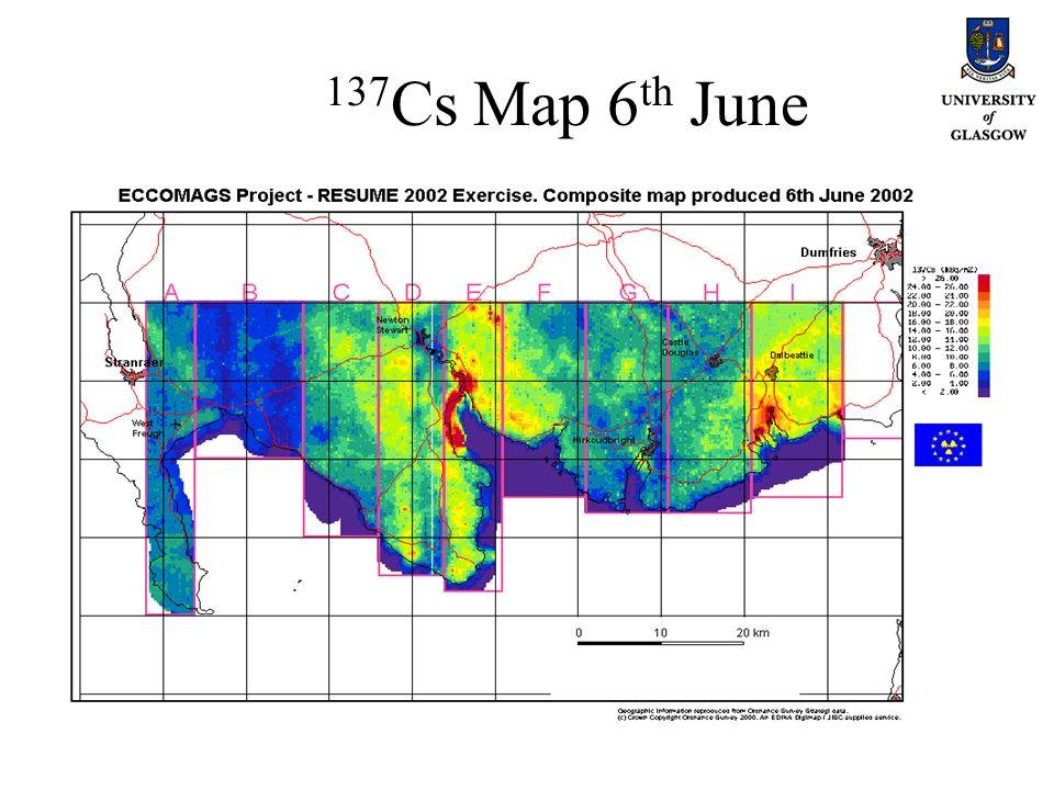 137 Cs Map 6 th June