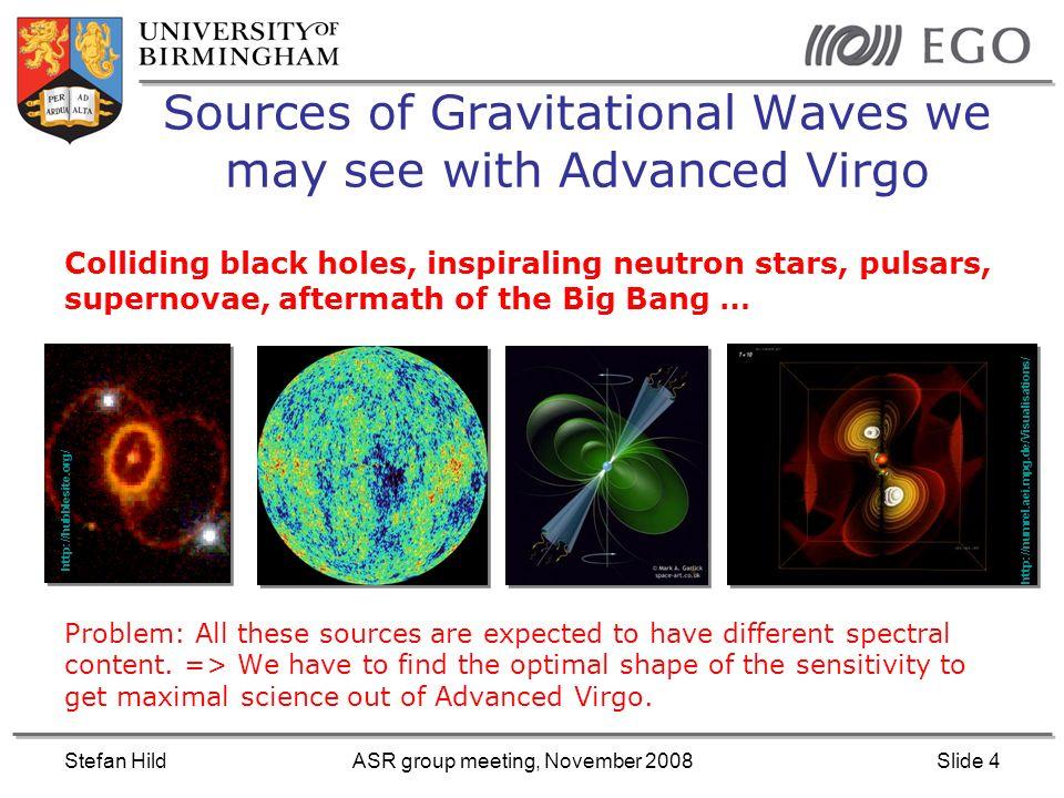 Stefan HildASR group meeting, November 2008Slide 15 Binary neutron star inspirals: Which is the most promising source.