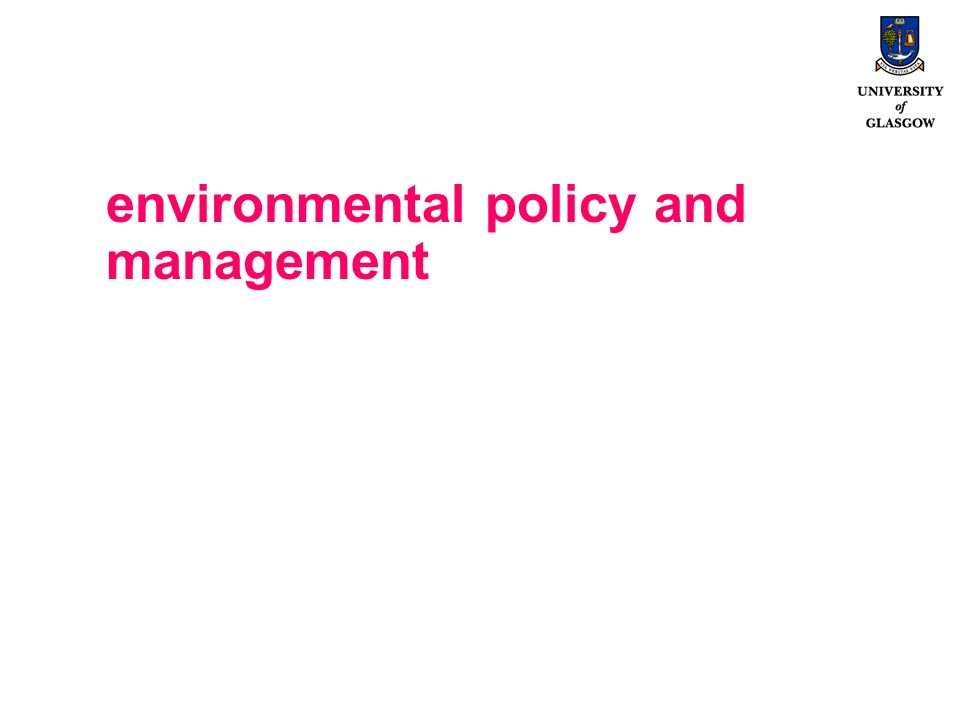 environmental policy and management