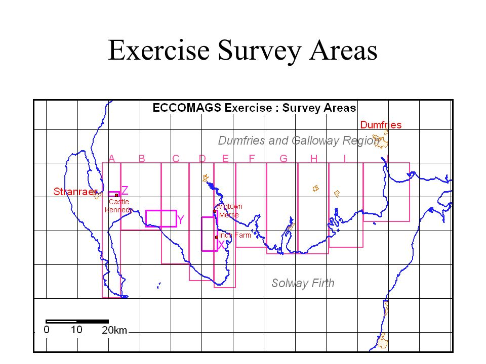 Exercise Survey Areas
