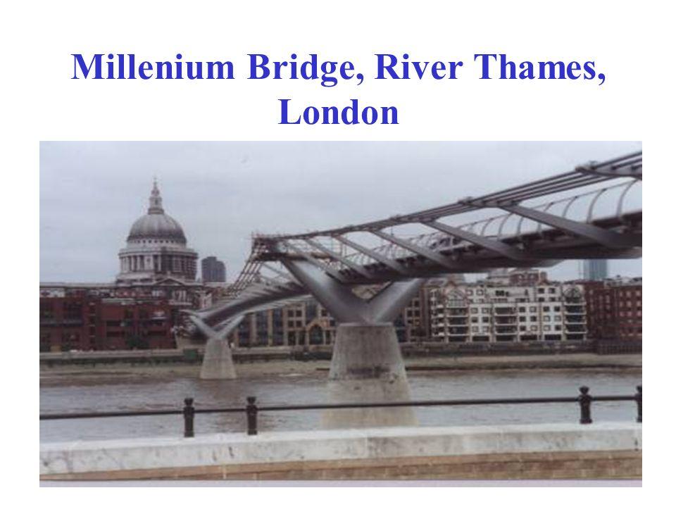 Millenium Bridge, River Thames, London