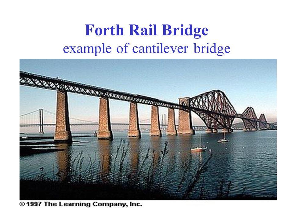 Forth Rail Bridge example of cantilever bridge