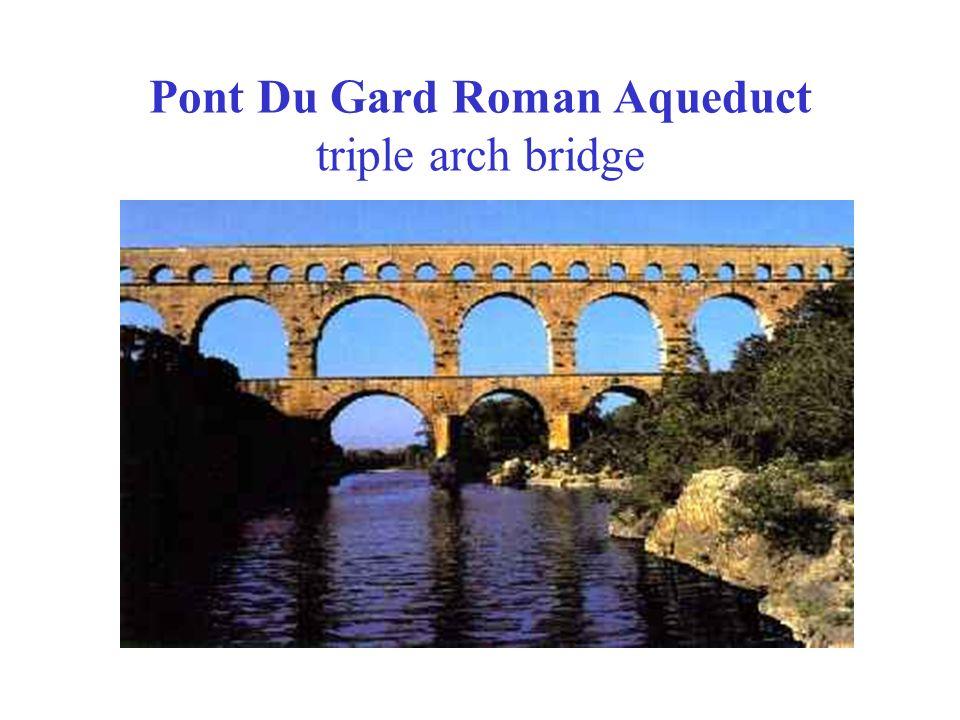 Pont Du Gard Roman Aqueduct triple arch bridge