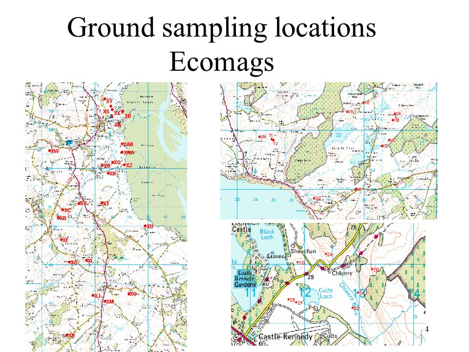 4 Ground sampling locations Ecomags