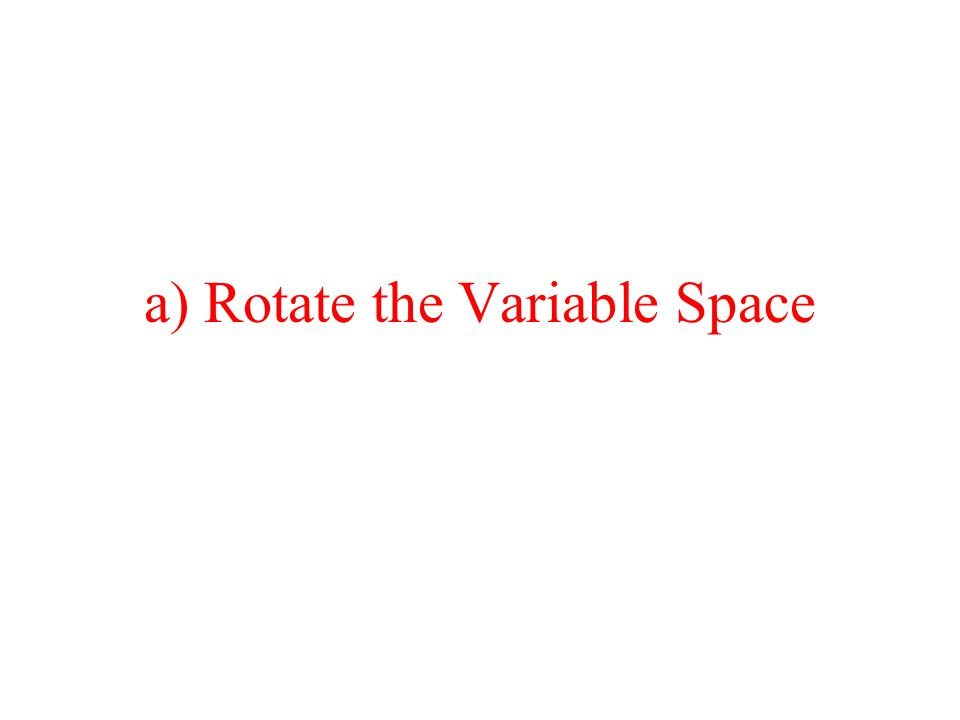 a) Rotate the Variable Space